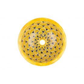La Yema - Gelbes ovales mexikanisches Waschbecken