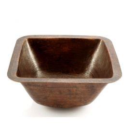 Ninette - Rundes Einbauwaschbecken aus Kupfer