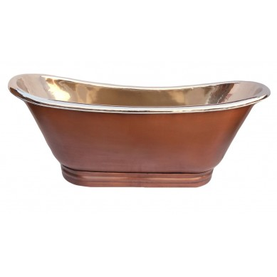 Mexikanische Vernickelte Badewanne Aus Kupfer Platita