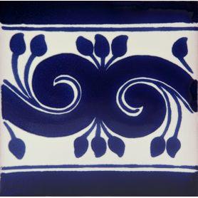 Edita - Mexikanische Talavera Fliesen in Blau