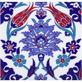Makbule - Keramikplatten aus der Türkei 20x20cm, Packung mit 12 Stück (0,48 m2)