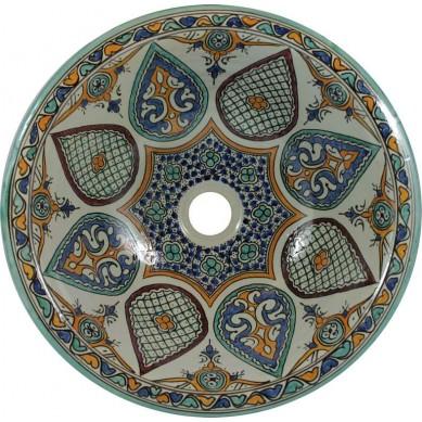 Leila - Buntes marokkanisches Waschbecken