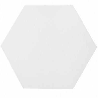 Hexagonale einfarbige Zementfliesen - Weiß