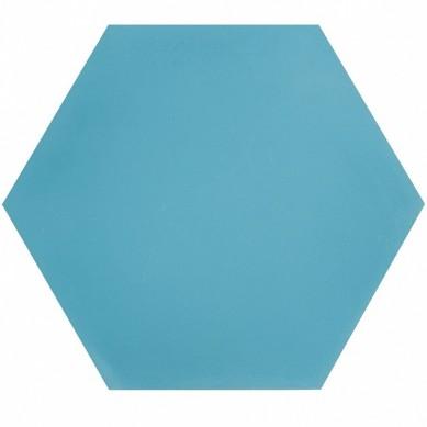 Hexagonale einfarbige Zementfliesen Meer