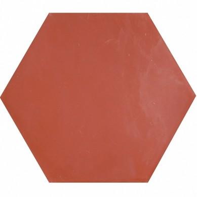 Hexagonale einfarbige Zementfliesen - Rot