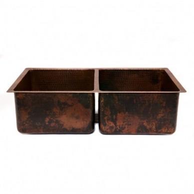 Salvatore - Küchenspüle Doppelbecken aus Kupfer