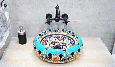 Handbemalte Waschbecken